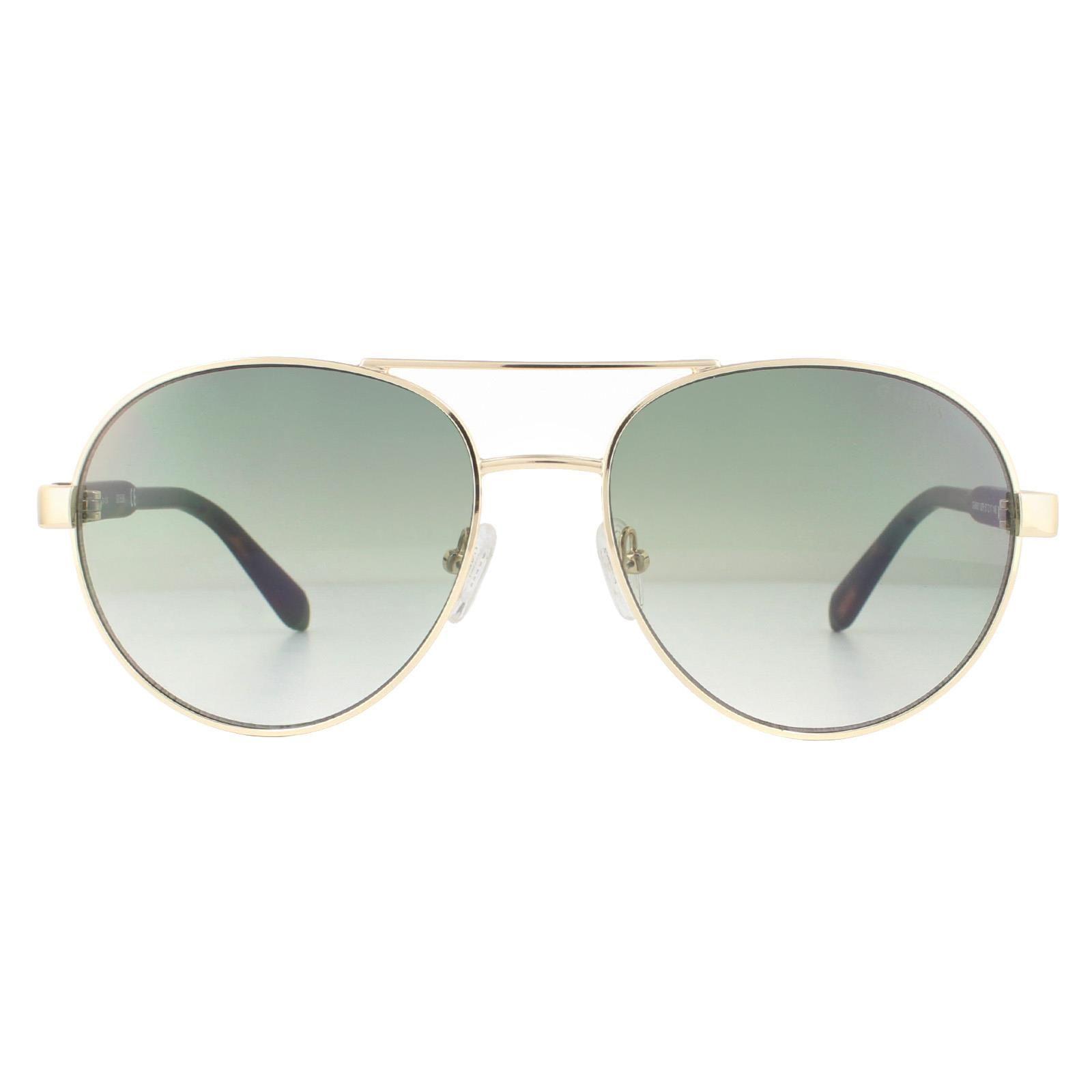 Guess Sunglasses GU6951 32P Gold Green Gradient