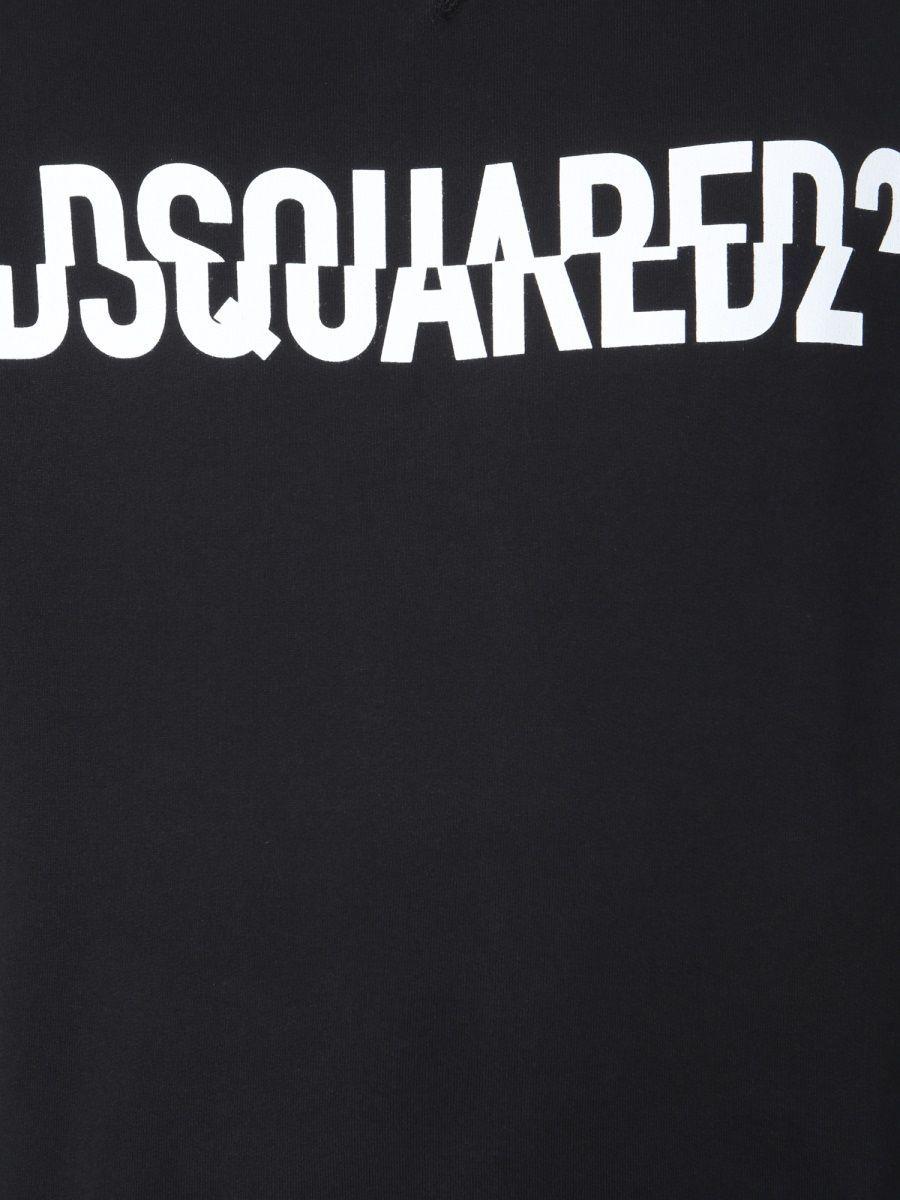 DSQUARED2 MEN'S S74GU0331S25030900 BLACK COTTON SWEATSHIRT