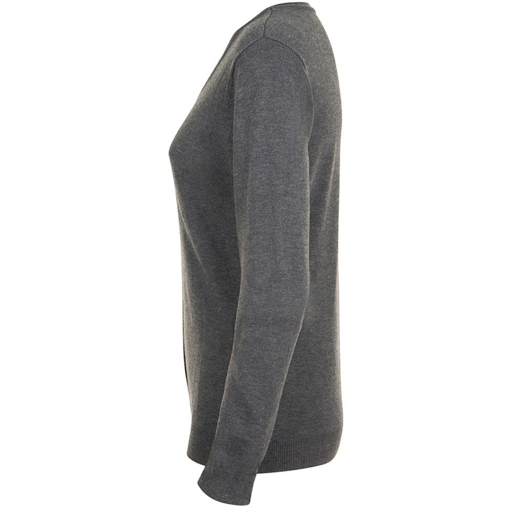 SOLS Womens/Ladies Griffith V Neck Long Sleeve Cardigan (Charcoal Marl)