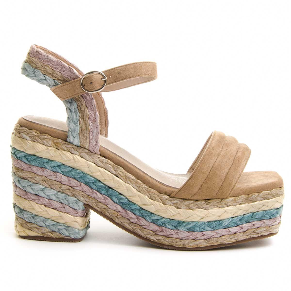 Montevita Platform Sandal in Multicolour