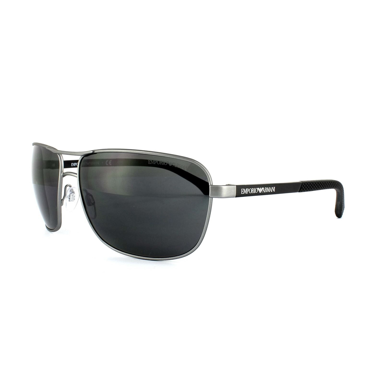 Emporio Armani Sunglasses 2033 3130/87 Ruthenium Rubber Grey