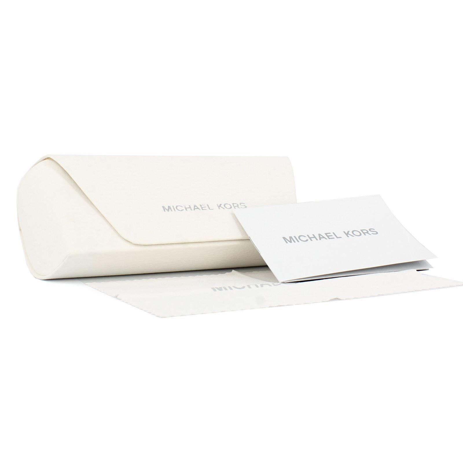 Michael Kors Sunglasses Hvar 5007 104525 Rose Gold White Blue Mirror