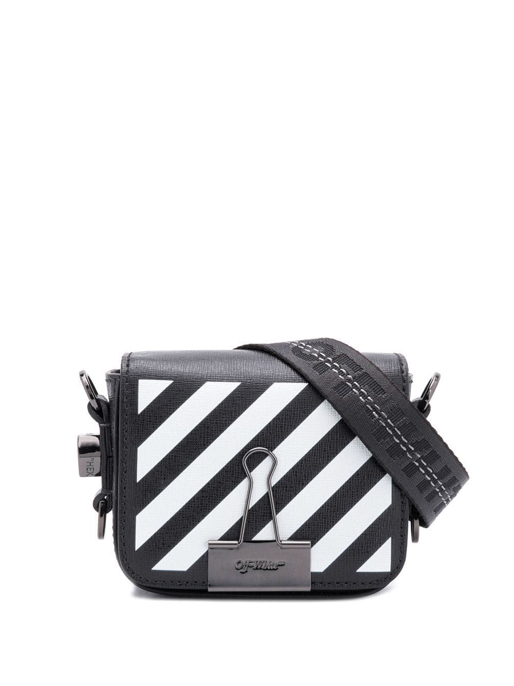 OFF-WHITE WOMEN'S OWNA087E194231071001 BLACK LEATHER SHOULDER BAG