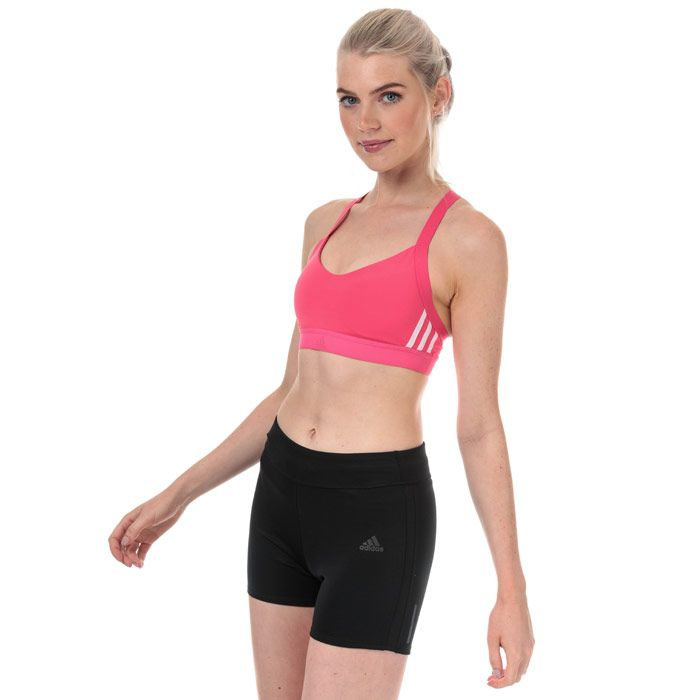 Women's adidas All Me 3-Stripes Sports Bra in Pink