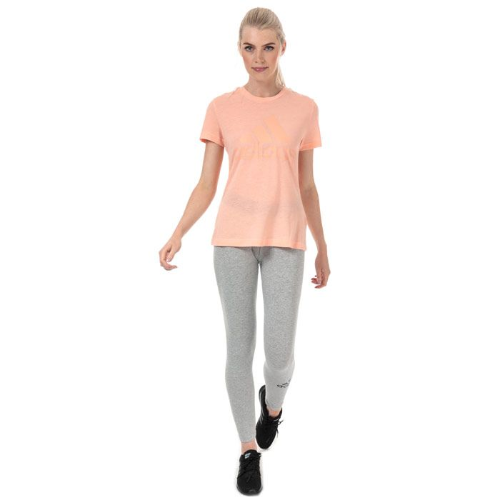 Women's adidas Must Haves Badge Of Sport T-Shirt in Pink