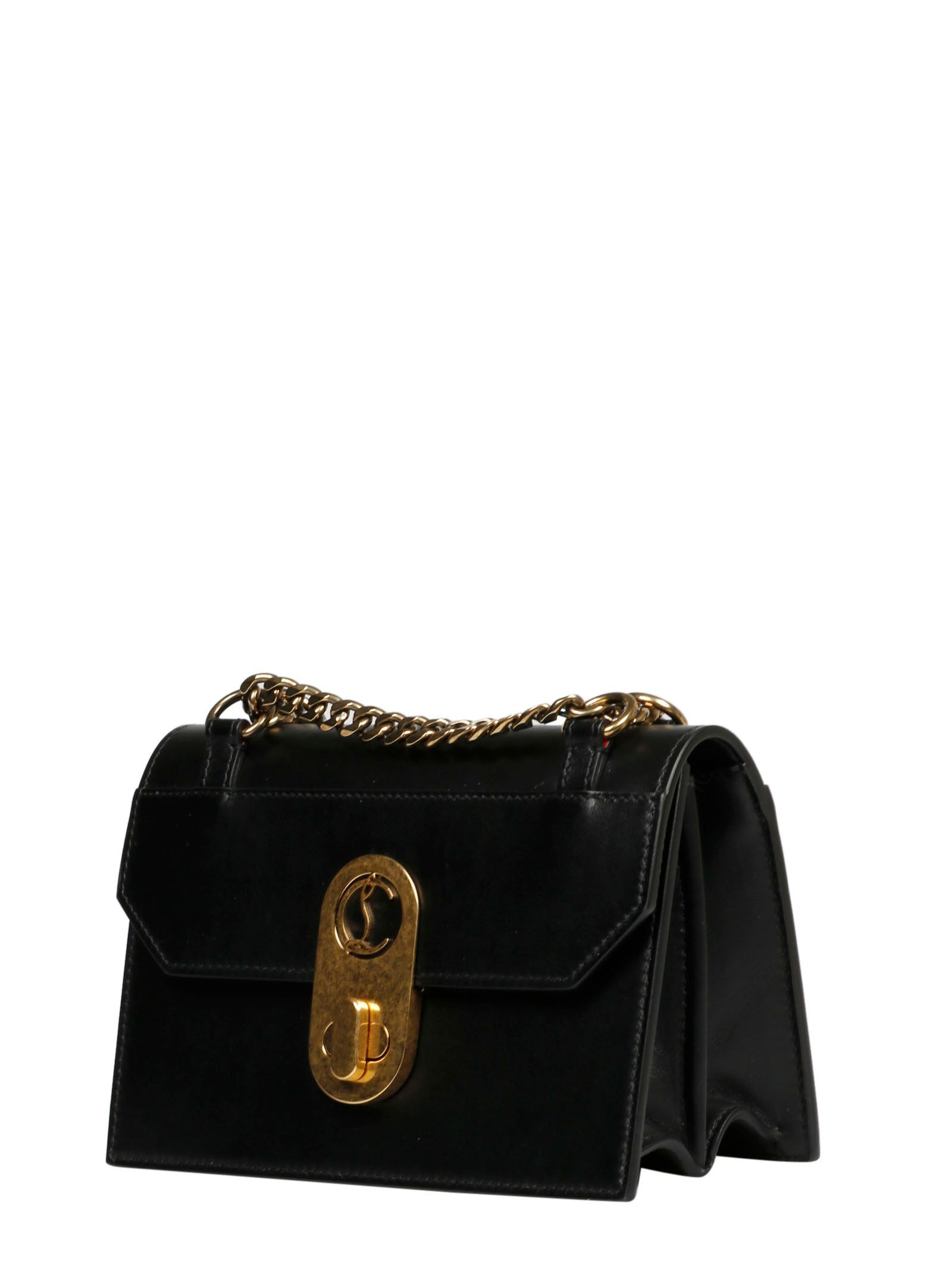 CHRISTIAN LOUBOUTIN WOMEN'S 1205064BK01 BLACK LEATHER SHOULDER BAG