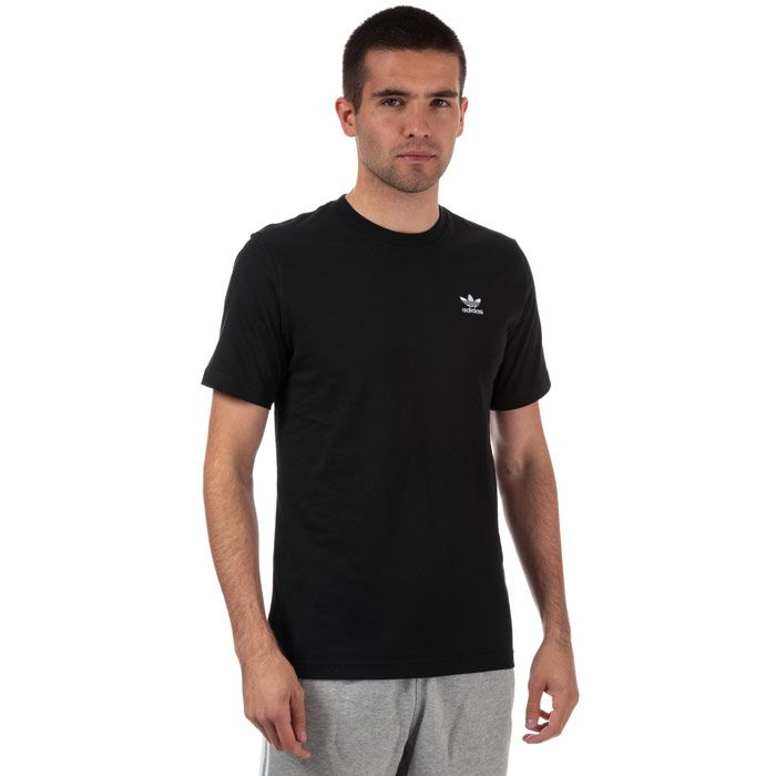 Men's adidas Originals Essential Logo T-Shirt in Black