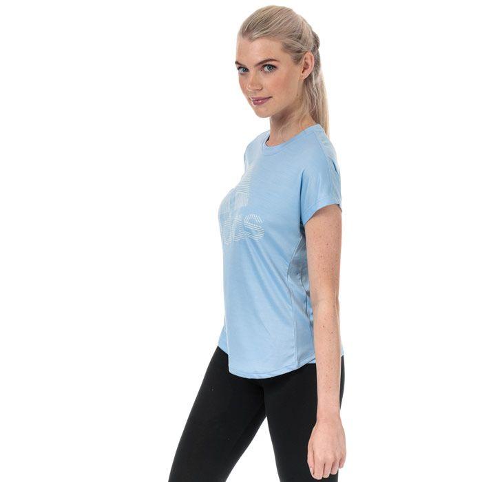 Women's adidas Badge Of Sport Logo T-Shirt in Light Blue