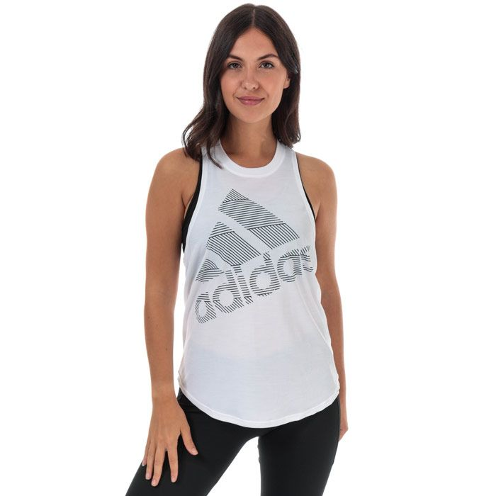Women's adidas Badge Of Sport Tank Top in White