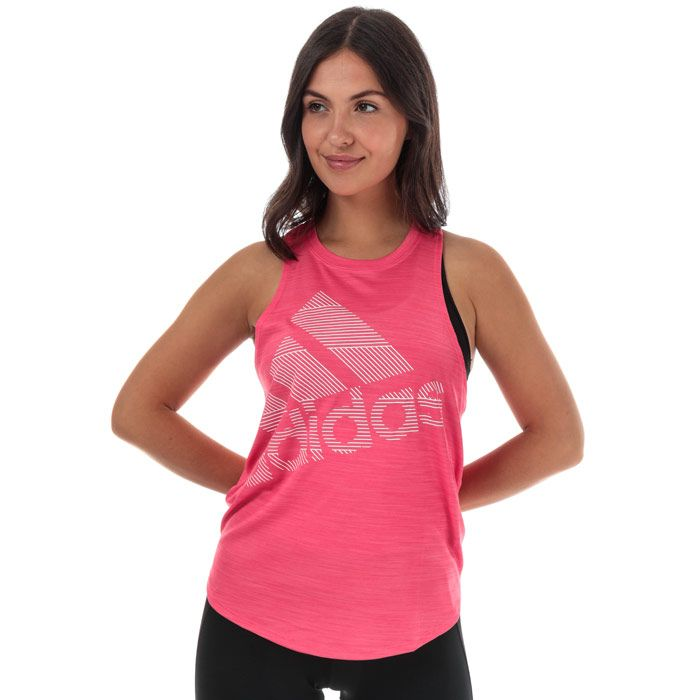 Women's adidas Badge Of Sport Tank Top in Pink