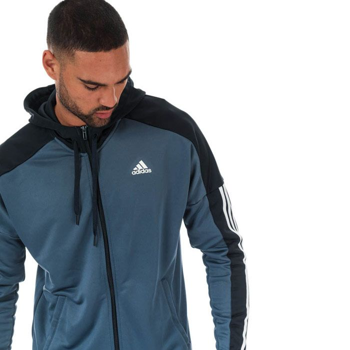 Men's adidas Game Time Tracksuit in blue navy