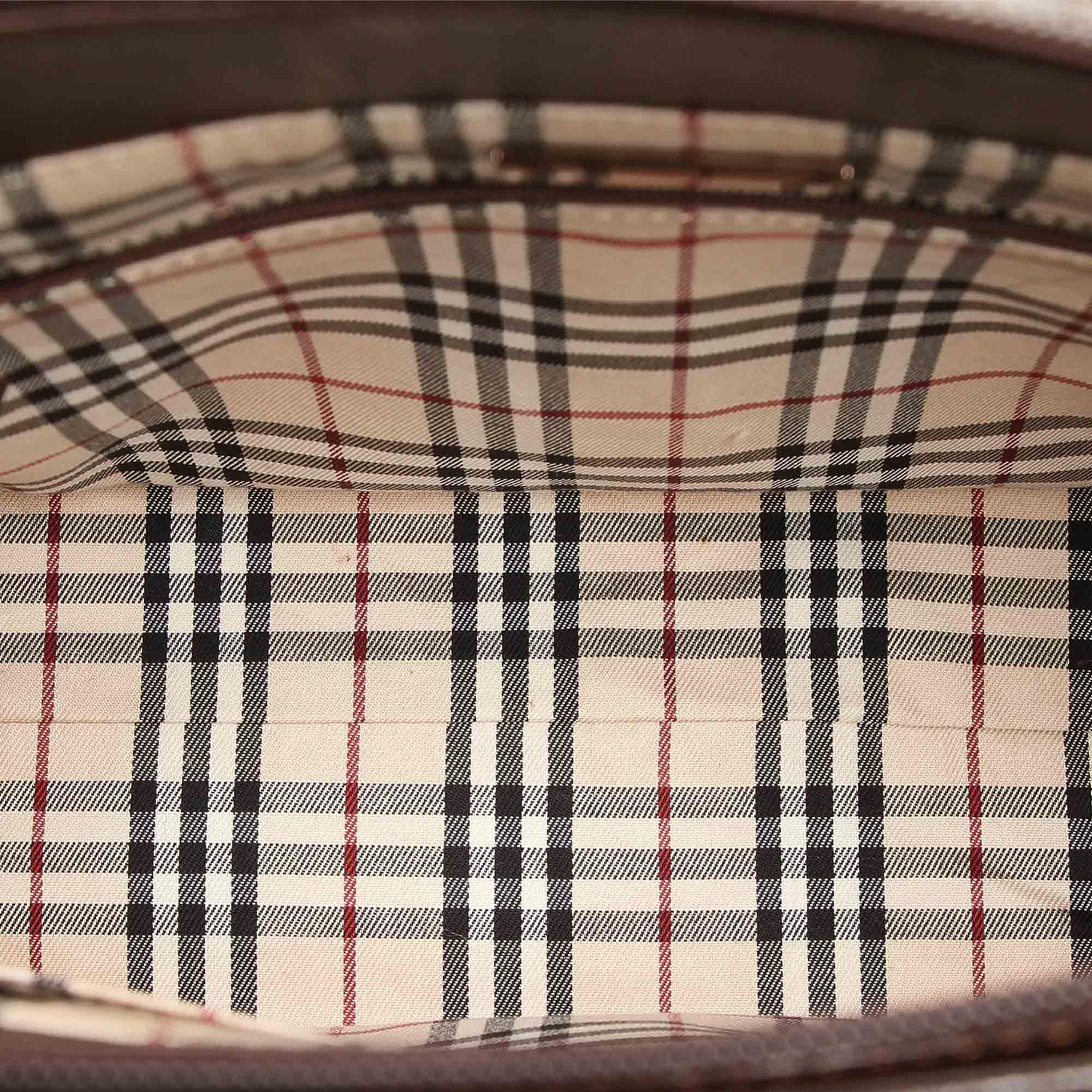 Vintage Burberry Leather Handbag Brown