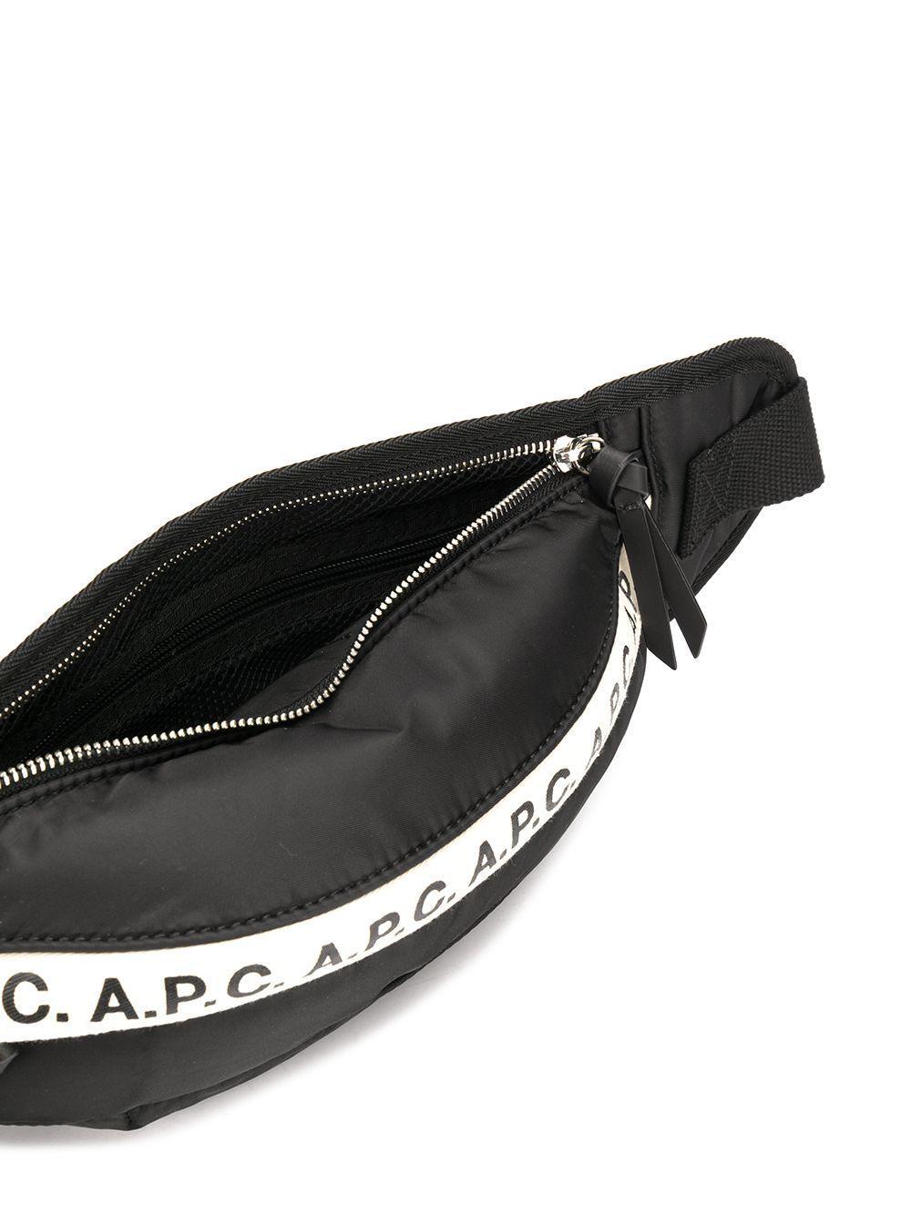 A.P.C. MEN'S PAACLH62141LZZ BLACK POLYAMIDE BELT BAG