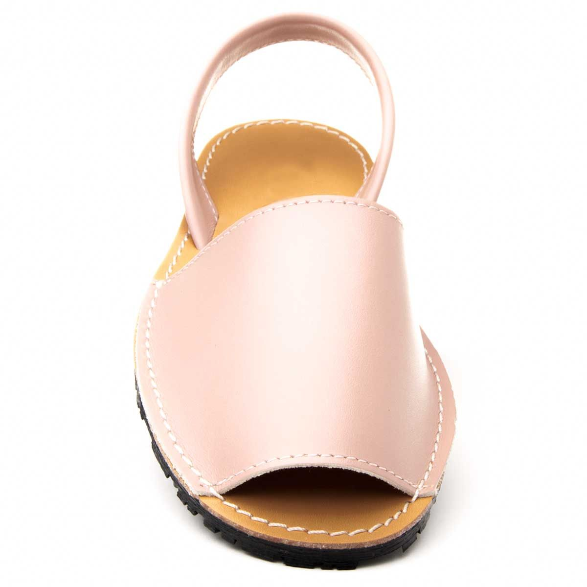 Purapiel Slingback Flat Sandal in Pink