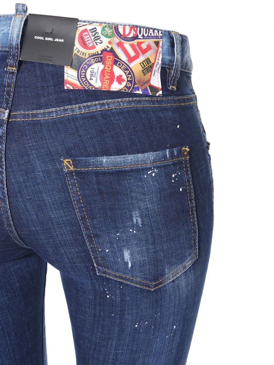 DSQUARED2 WOMEN'S S75LB0190S30342470 BLUE COTTON JEANS