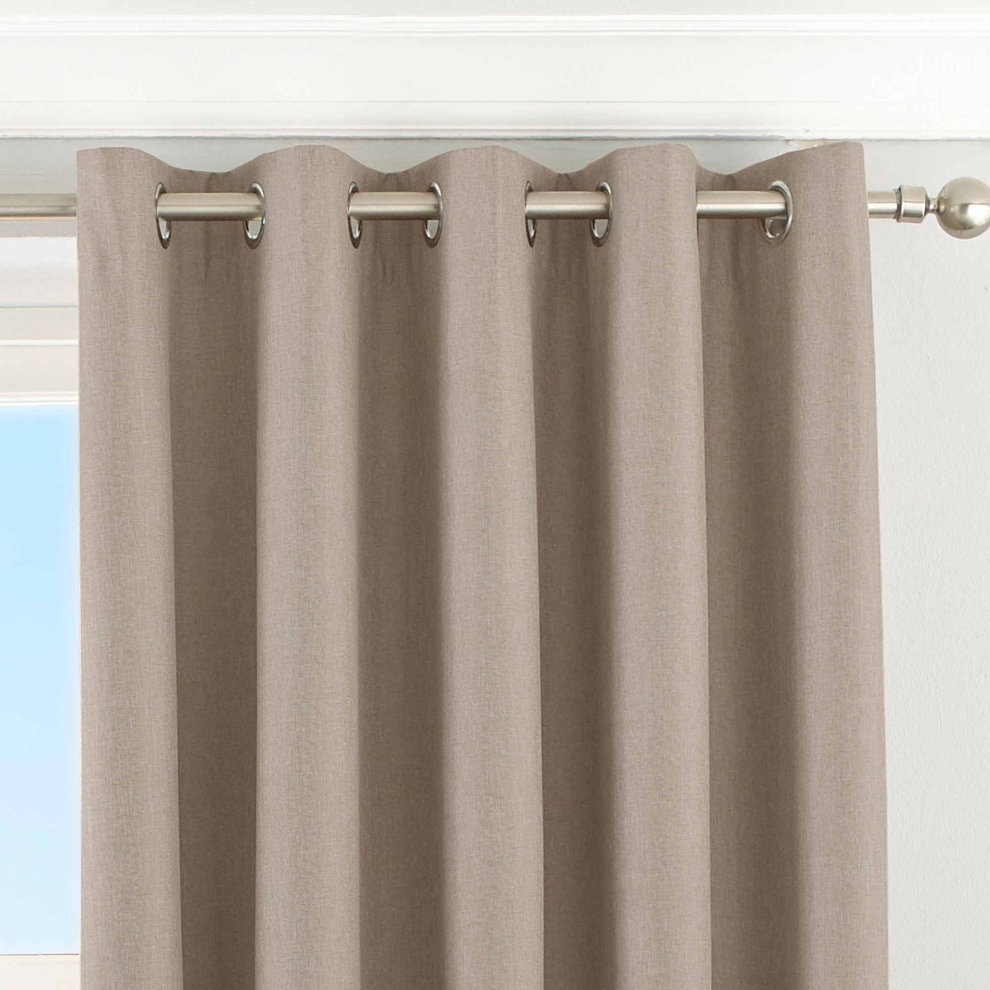 Eclipse Blackout Eyelet Curtains in Natural