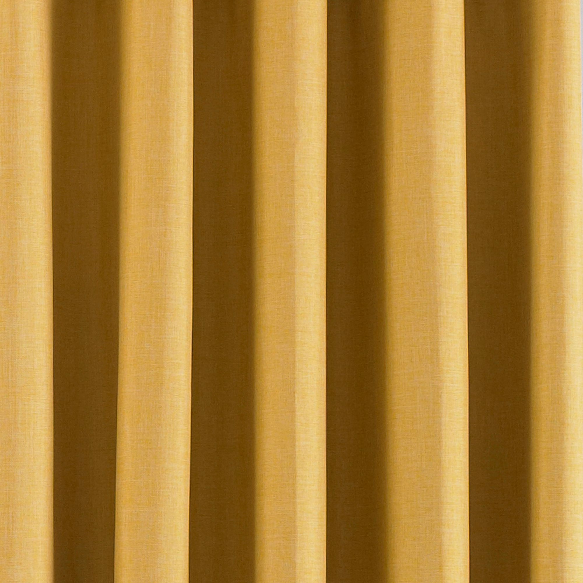 Eclipse Blackout Eyelet Curtains in Ochre