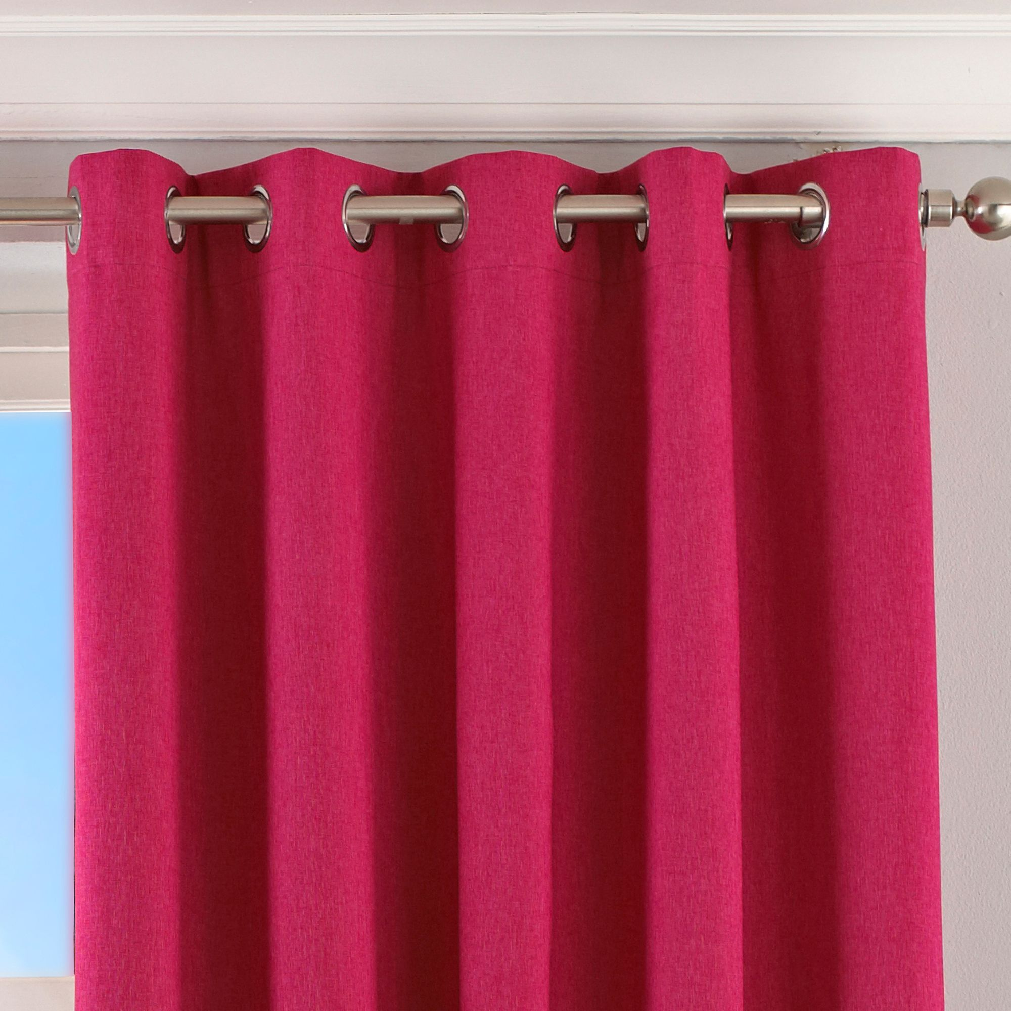 Twilight Blackout Eyelet Curtains in Pink