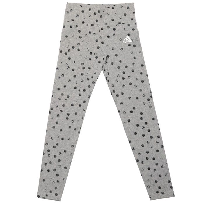 Girl's adidas Infant Must Haves Graphic Leggings in Grey