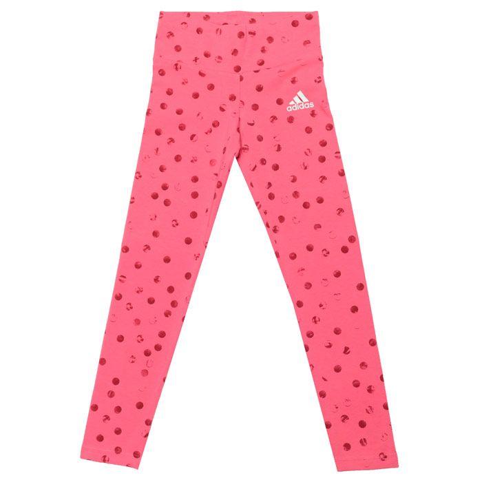 Girls' adidas Junior Must Haves Graphic Leggings in Pink