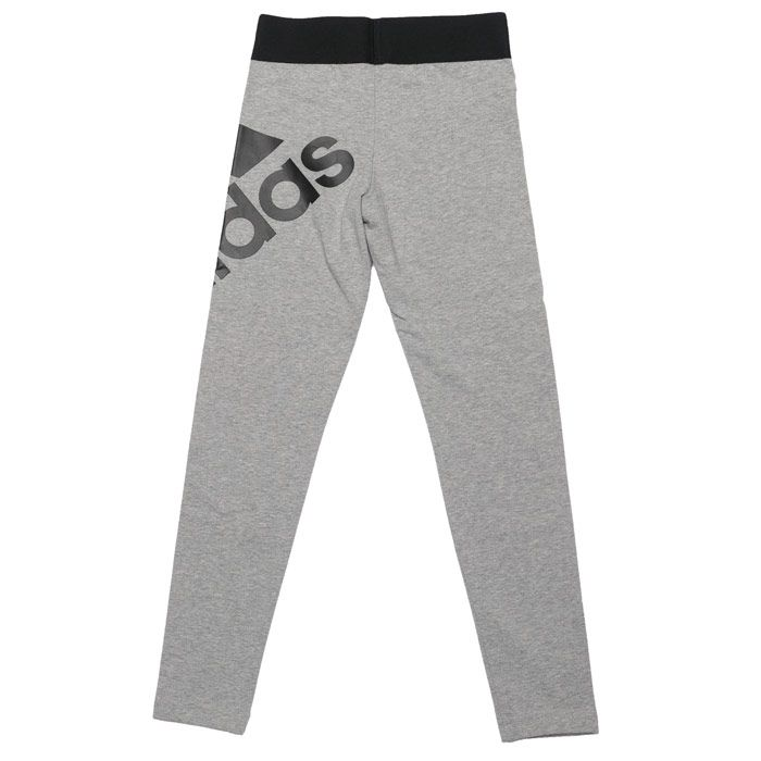 Girl's adidas Junior Must Have Leggings in Grey