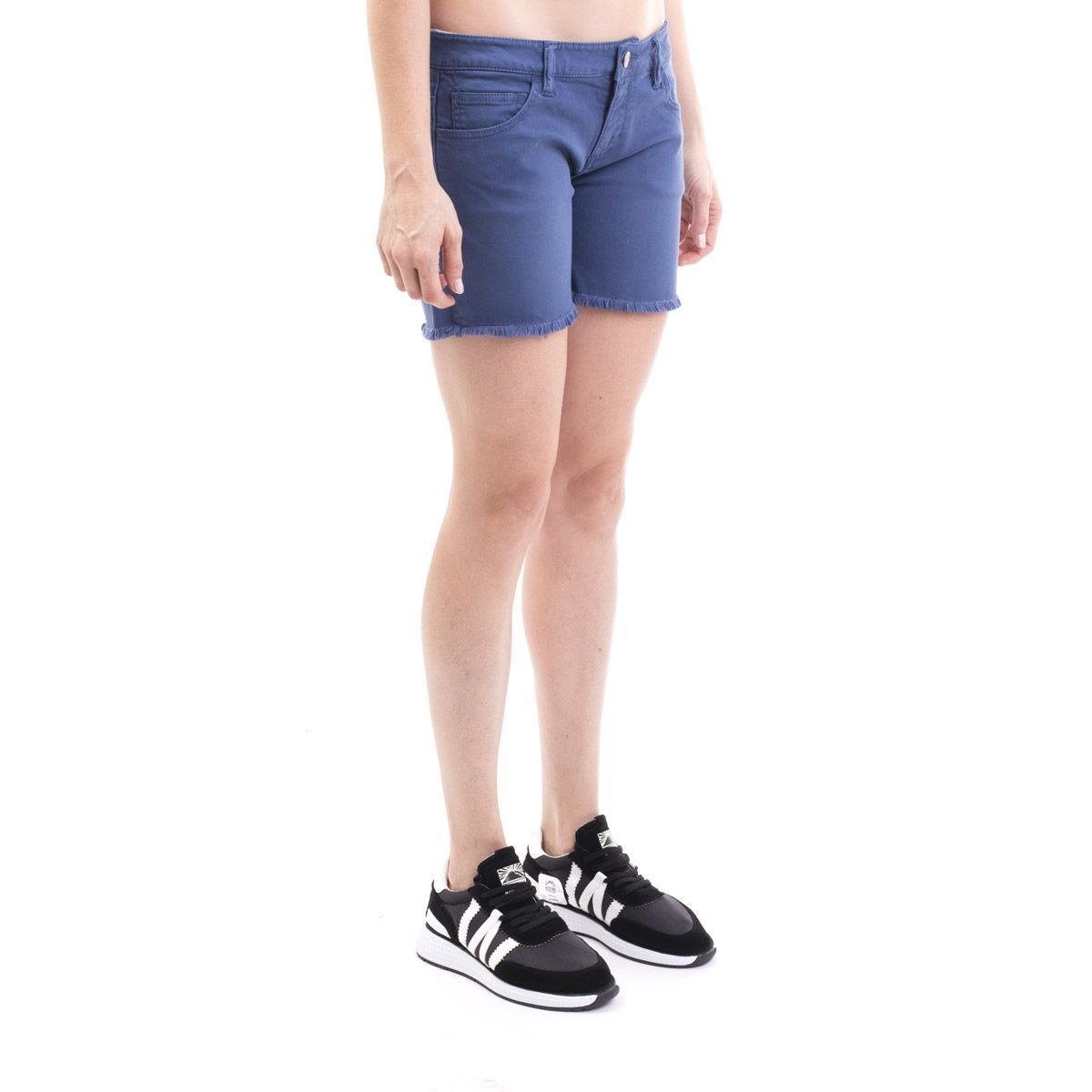 SUN 68 WOMEN'S D1920780 BLUE COTTON SHORTS