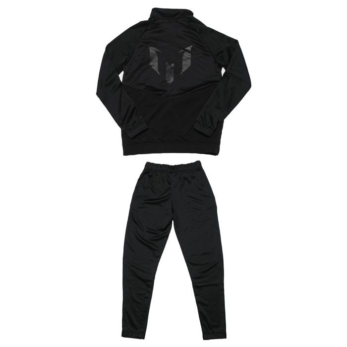 Boys' adidas Junior Messi FT Tracksuit in Black yellow