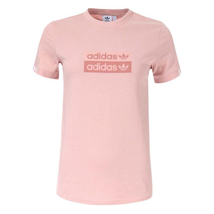 Women's adidas Originals T-Shirt in Pink