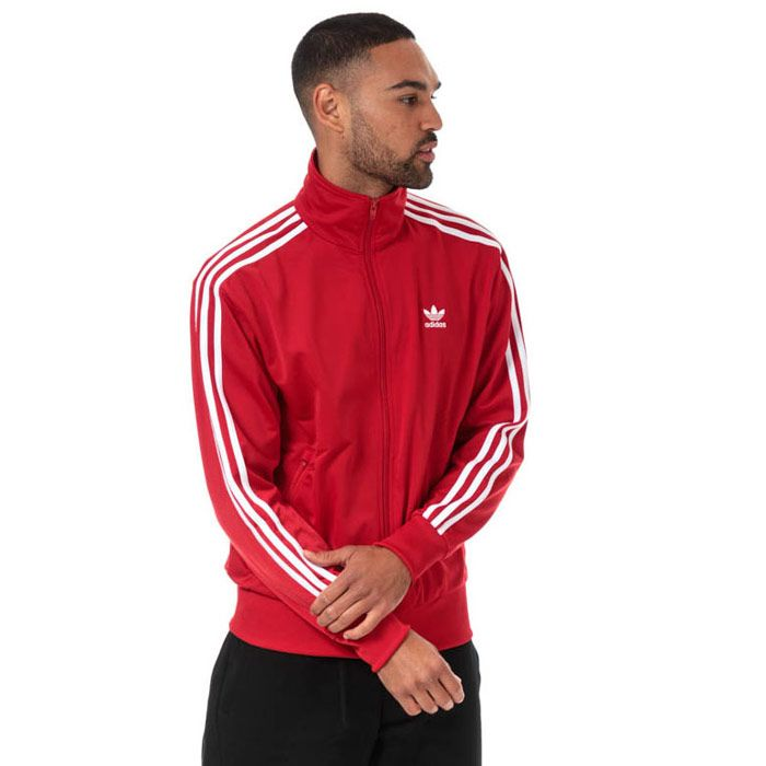 Men's adidas Originals Firebird Track Top in Red