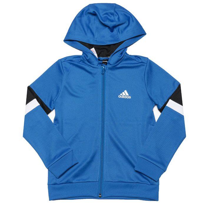 Boys' adidas Junior Zip Hoodie in Blue
