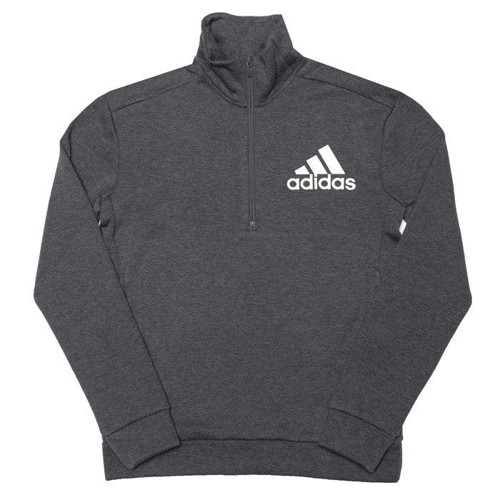 Boy's adidas Junior ID Holiday Zip Sweatshirt in Grey