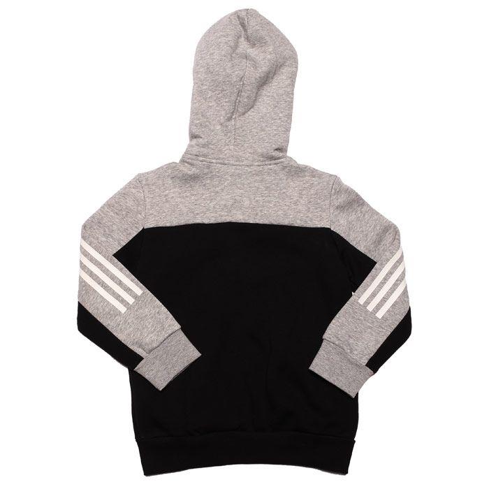 Boy's adidas Junior Sport ID Zip Hoody in Grey