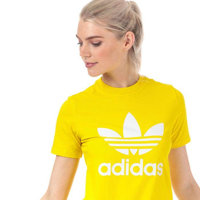 Women's adidas Originals Trefoil T-Shirt in Yellow