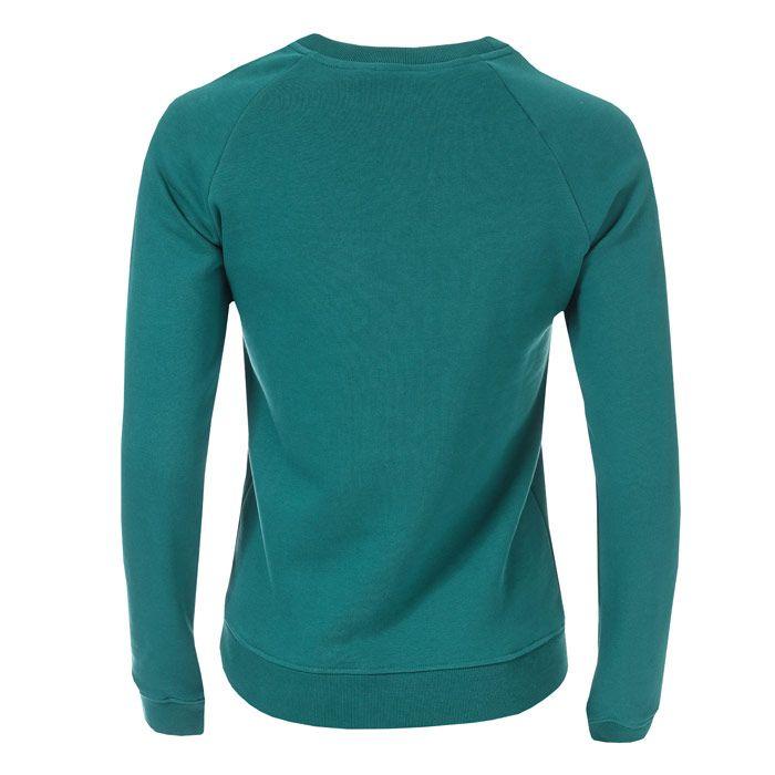 Women's adidas Originals Trefoil Crew Sweatshirt in Green