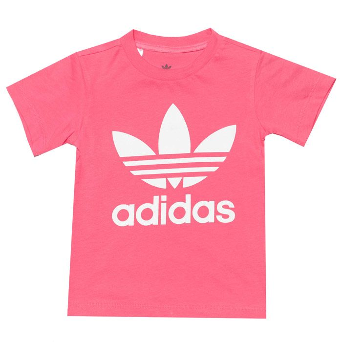 Girl's adidas Originals Infant Trefoil T-Shirt in Pink
