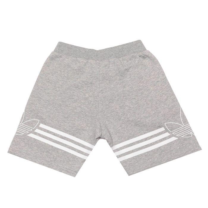Boys' adidas Originals Junior Outline Shorts in Grey