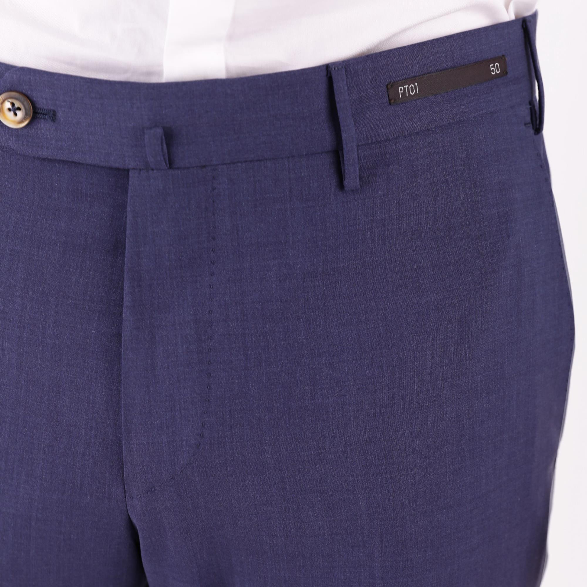 PT01 MEN'S DSTVZ00NTVRE650340 BLUE COTTON PANTS