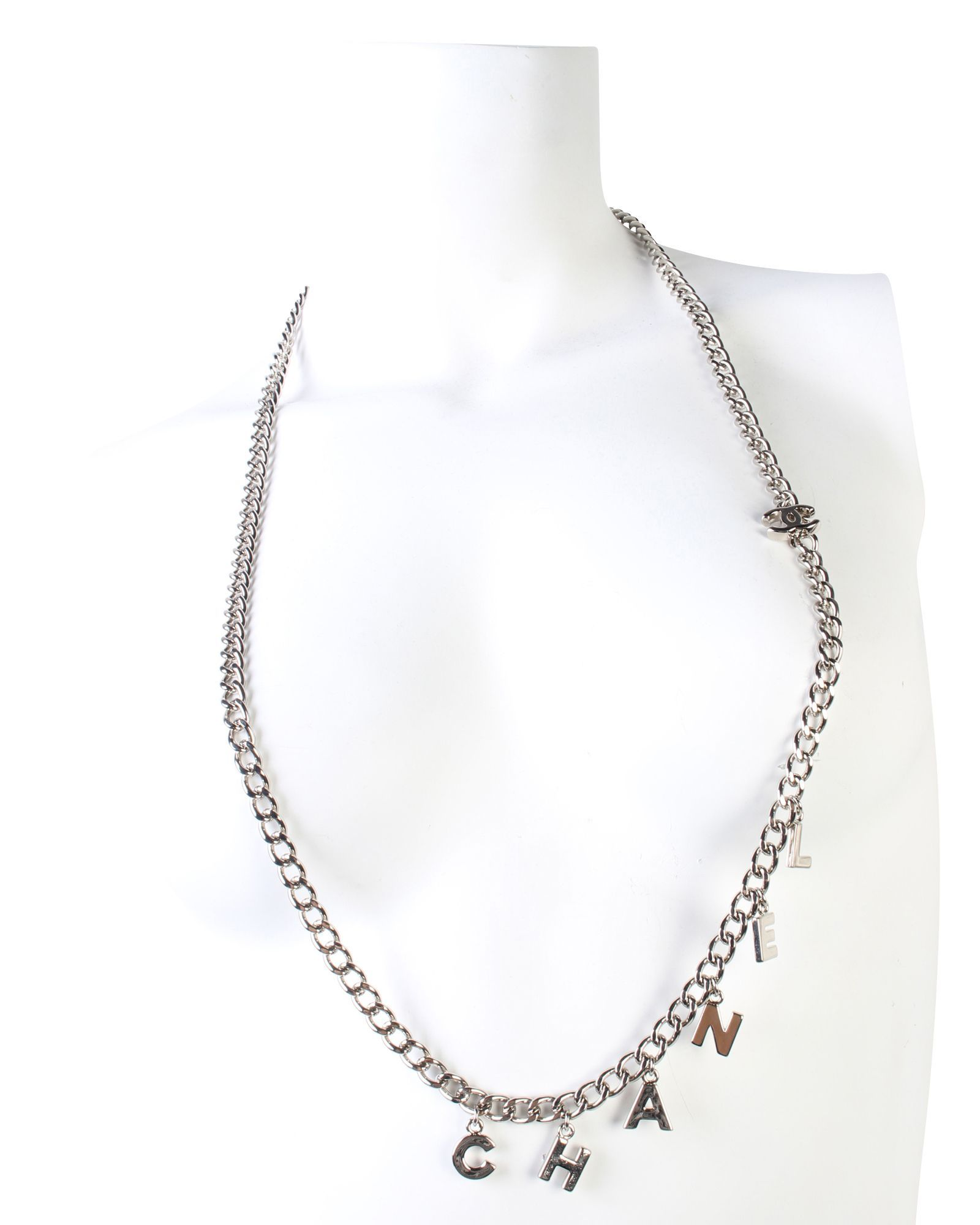 Chanel Chanel Letters Chain Necklace -Pre Owned Condition Excellent