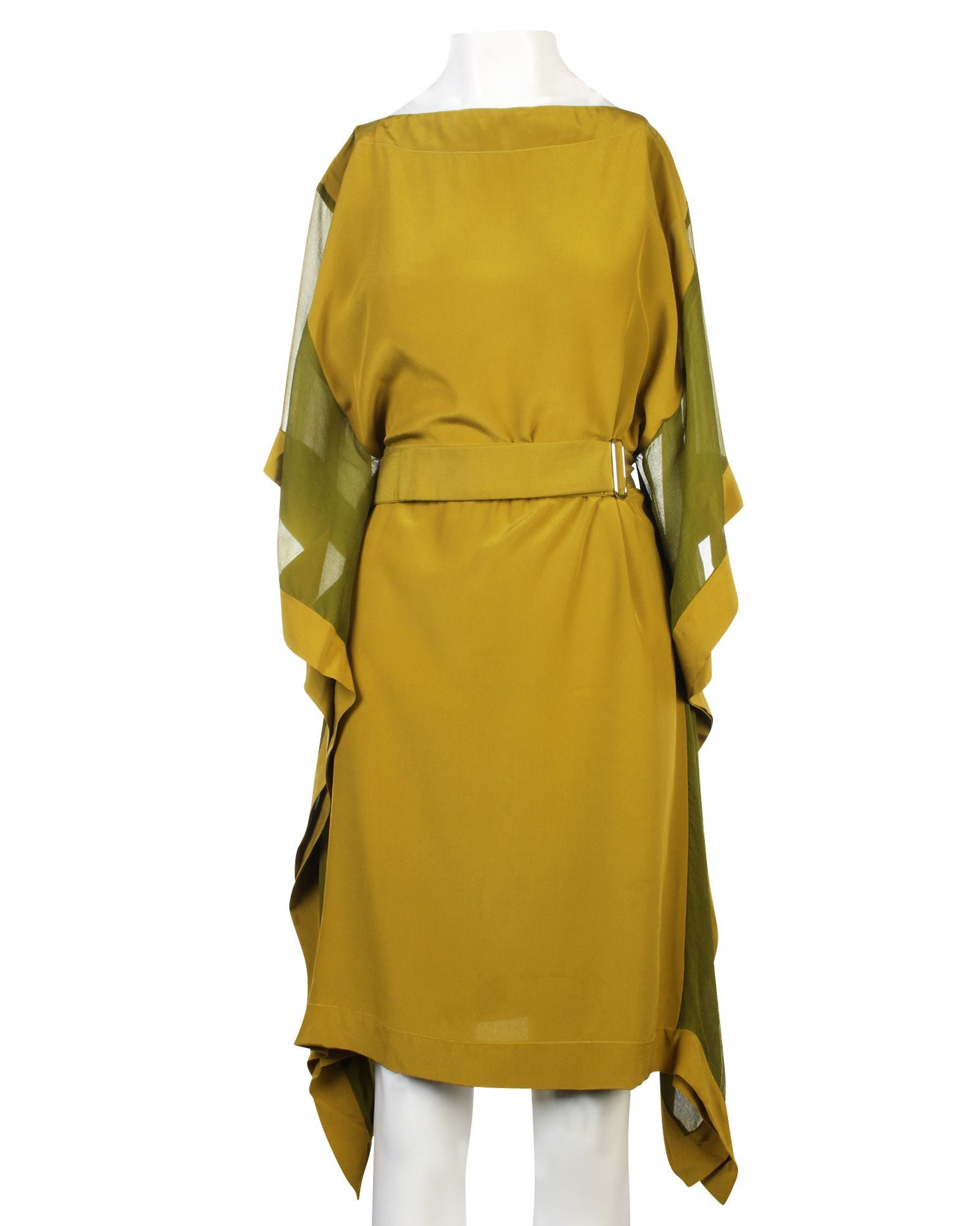 Hermès Silk Dress With Belt -Pre Owned Condition Very Good