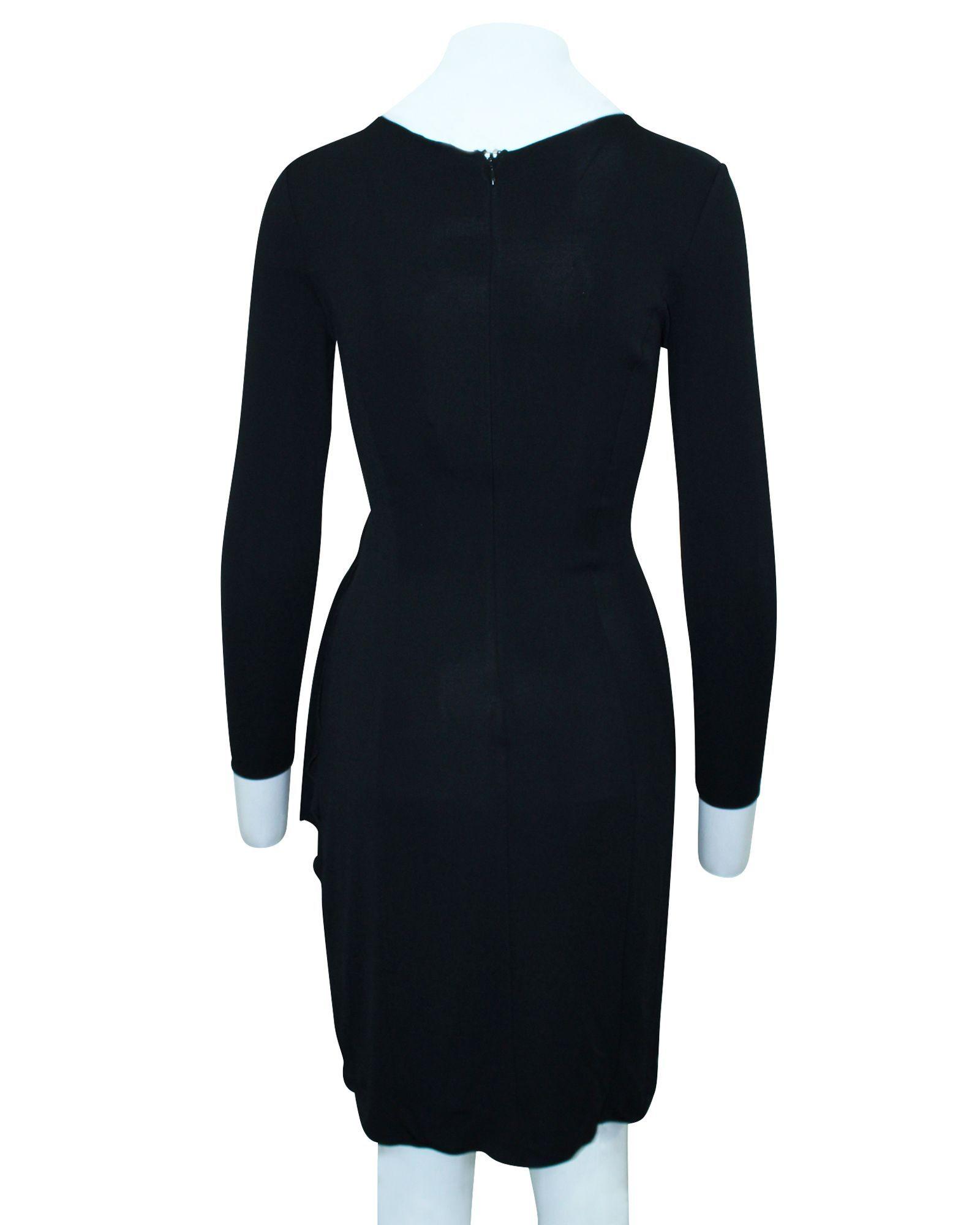 Armani Black Longsleeves Dress