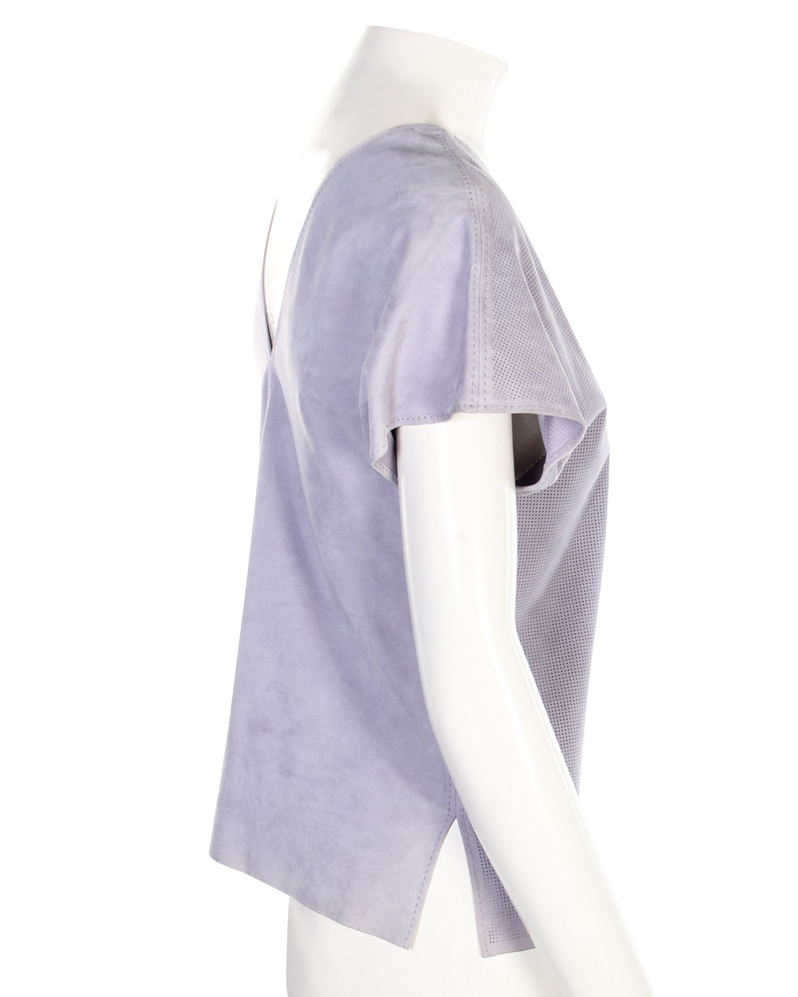 Hermès Purple Leather Top -Pre Owned Condition Very Good
