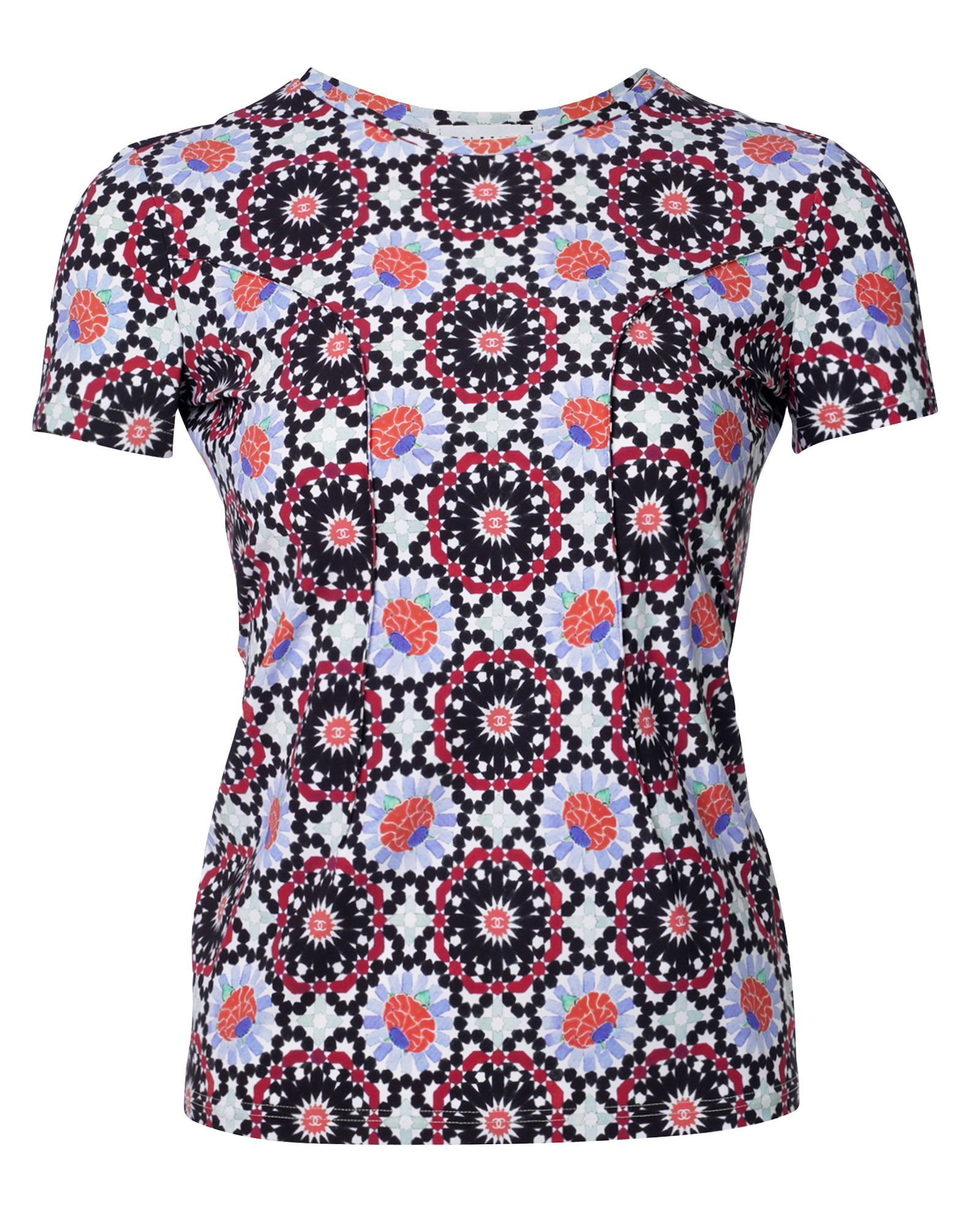 Chanel Multi Print Smock Top -Pre Owned Condition Very Good