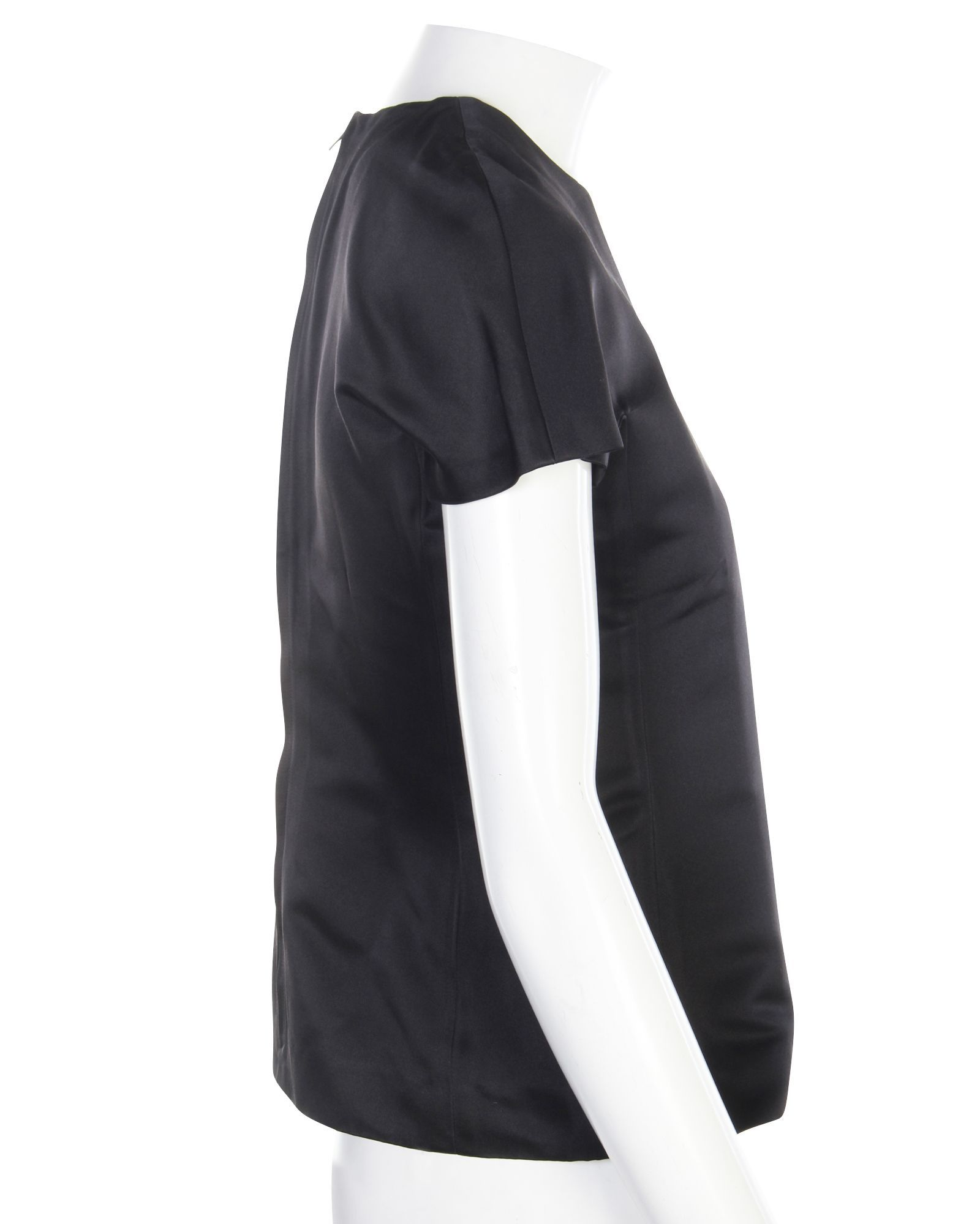 Hermès Classic Black Top With Back Zip -Pre Owned Condition Excellent