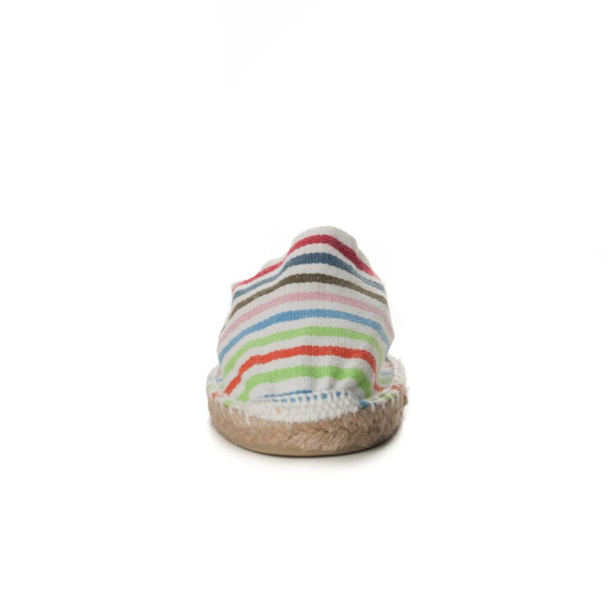 Maria Graor Artisanal Espadrille in Multicolour Stripe