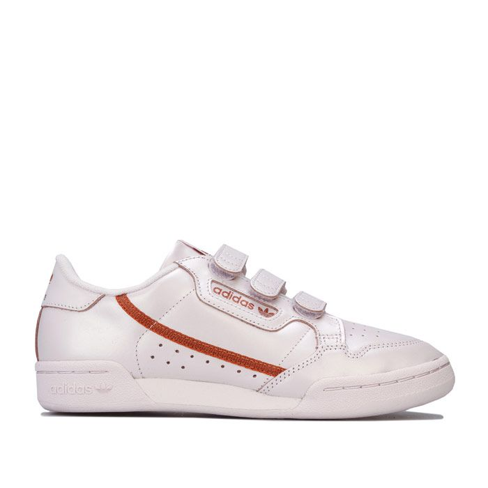 Women's adidas Originals Continental 80 Strap Trainers in Pink