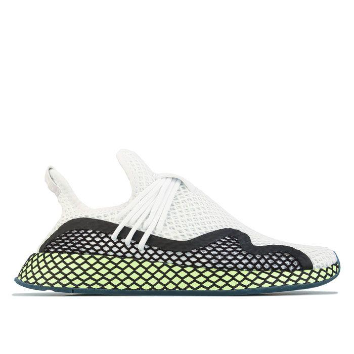Men's adidas Originals Deerupt S Runner Trainers in White