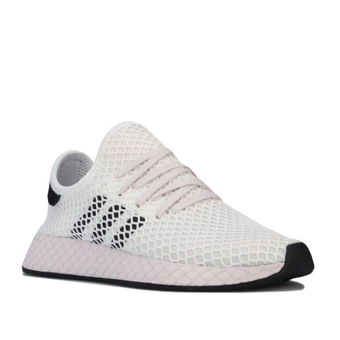 Women's adidas Originals Deerupt Runner Trainers in White Black