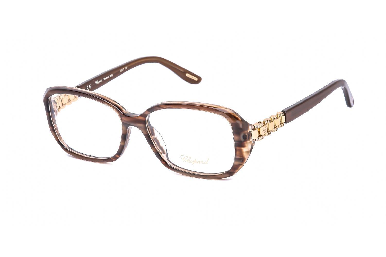Chopard Rectangular plastic Women Eyeglasses Shiny Pearled Brown / Clear Lens