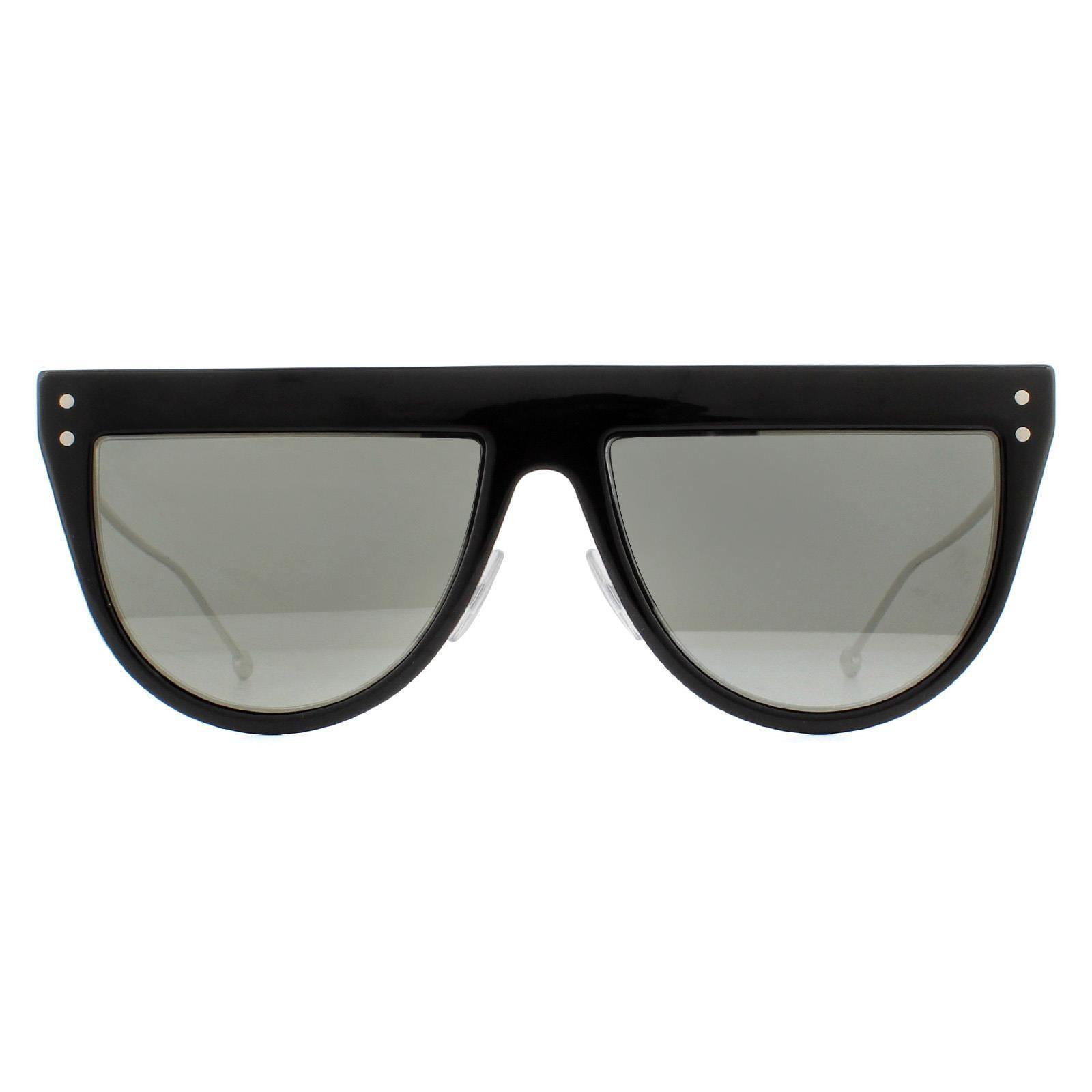 Fendi Sunglasses FF 0372/S 807 T4 Black and Silver Grey with Silver Mirror