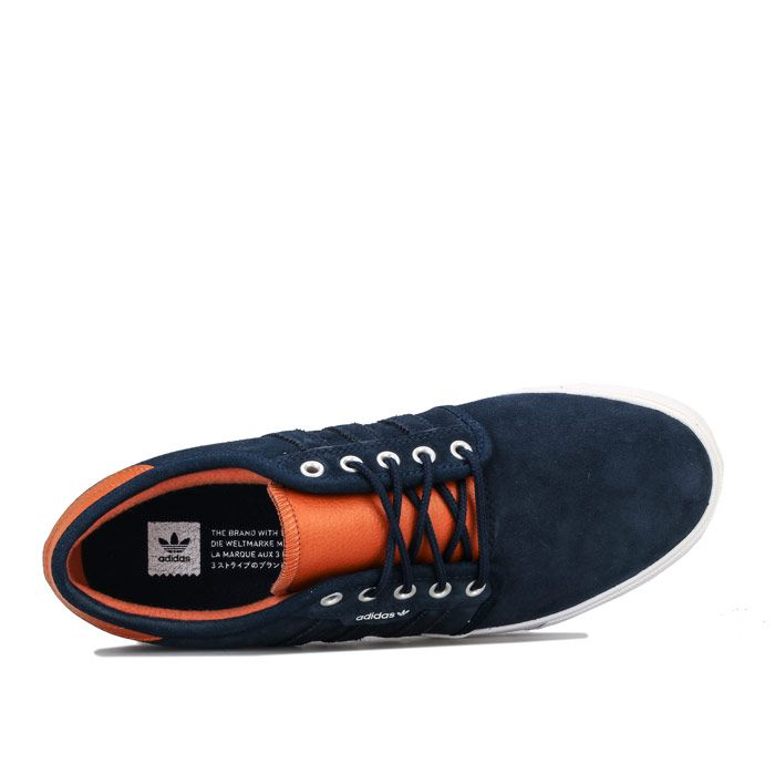 Men's adidas Originals Seeley Trainers in Navy-White